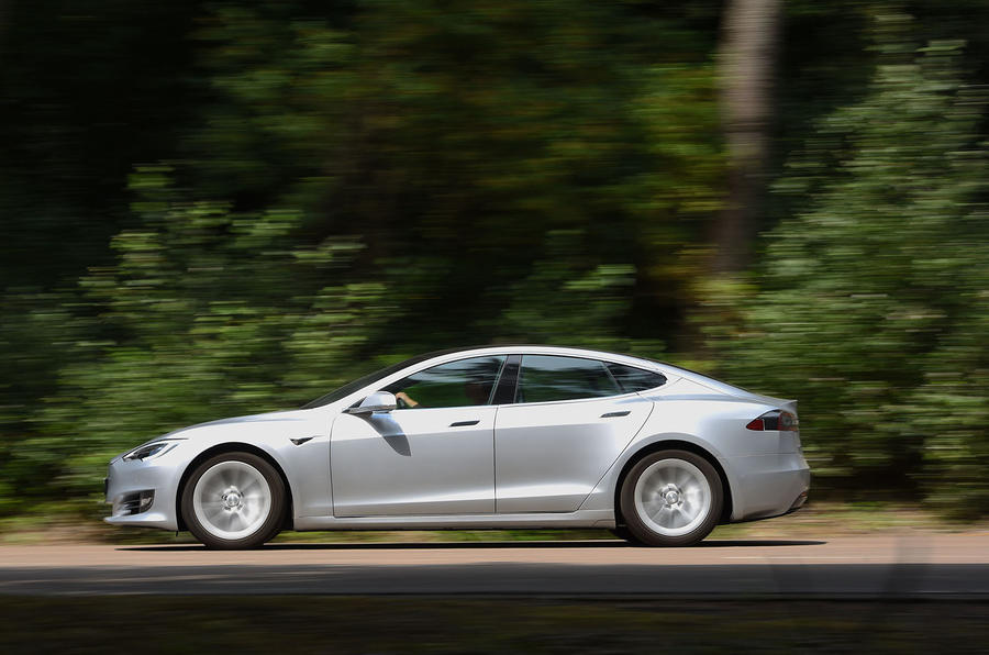 Tesla Model S 75D 2018 first drive review on the road left