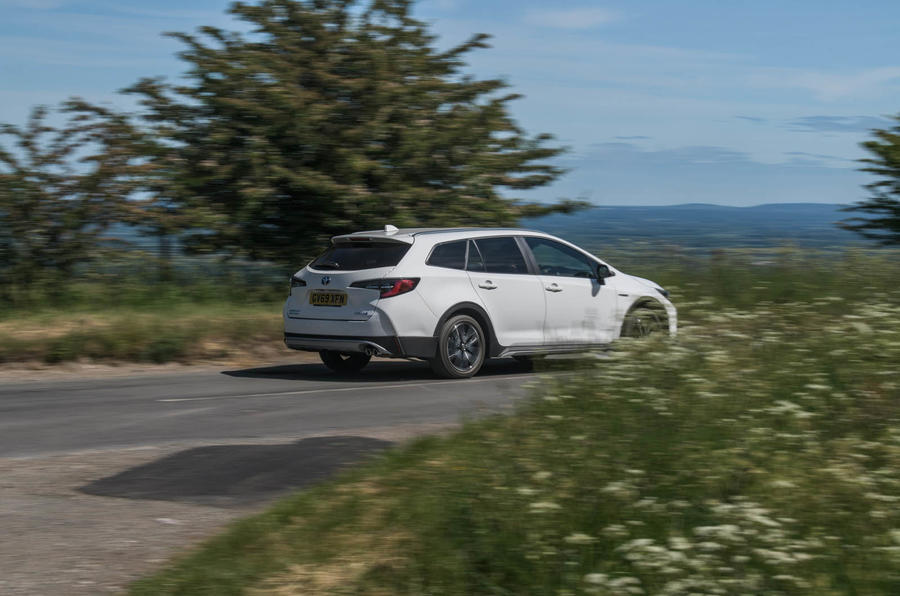 Toyota Corolla Trek 2020 UK first drive review - on the road rear