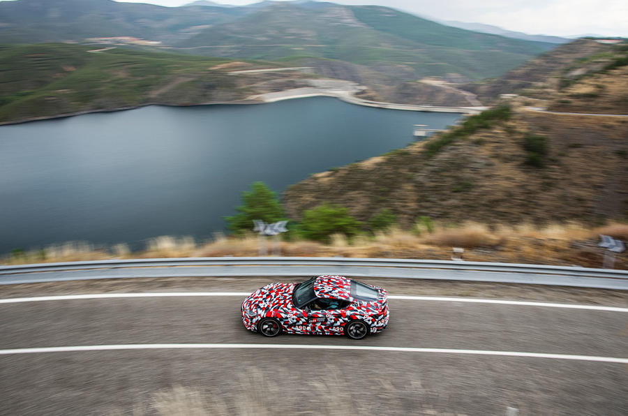 Toyota Supra 2019 prototype first drive review road location