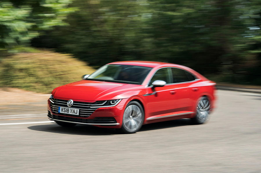 Volkswagen Arteon 2018 long-term review cornering front
