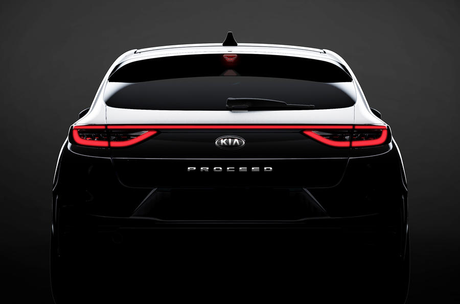 Kia Proceed: shooting brake rear revealed as Paris debut approaches