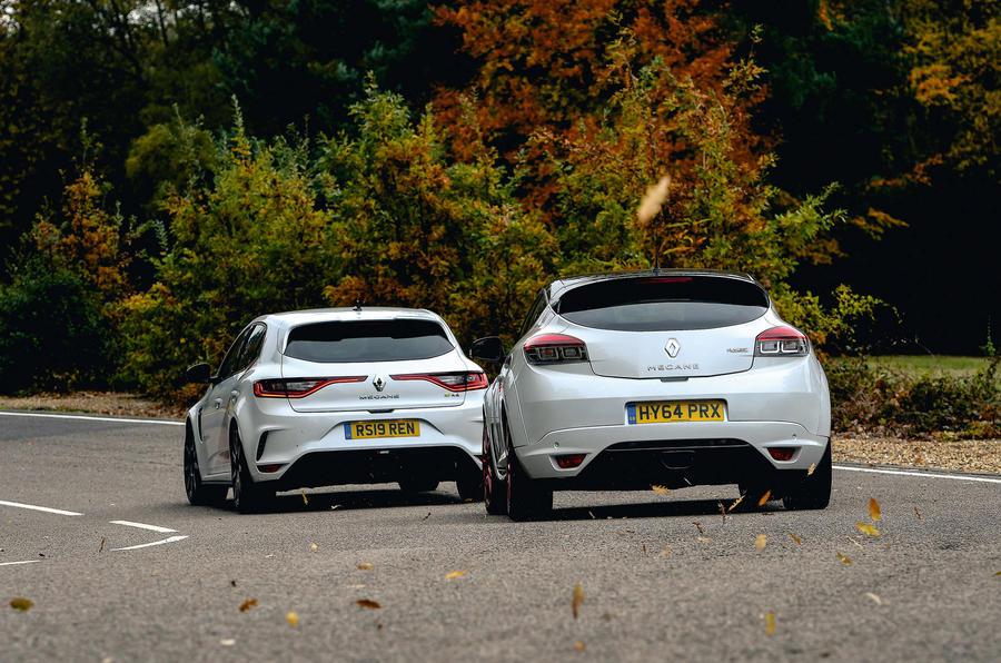 Hot Renault pair - tracking rear