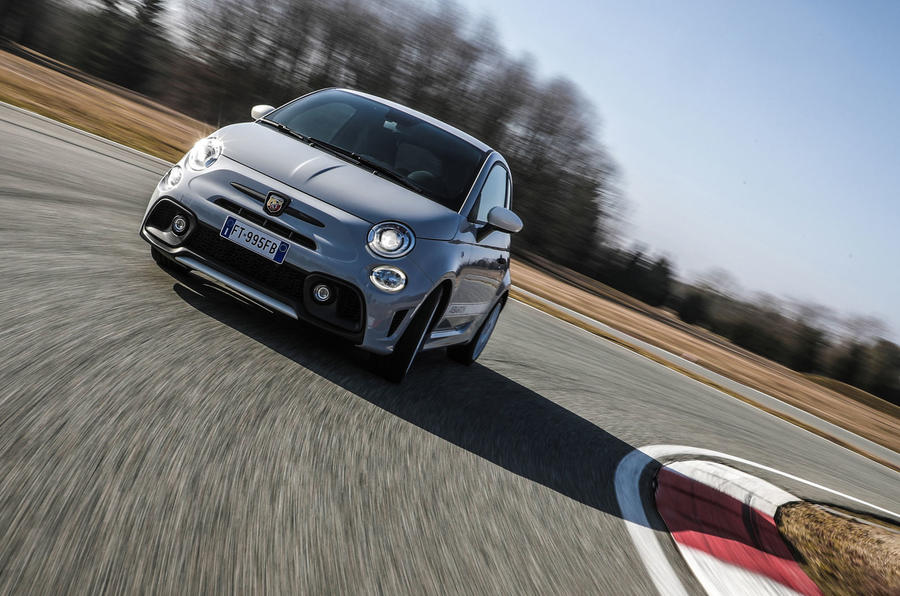 Abarth 595 Essesse 2019 first drive review - track front