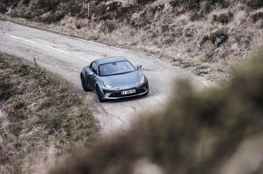 Alpine A110S 2019 first drive review - on the road aerial