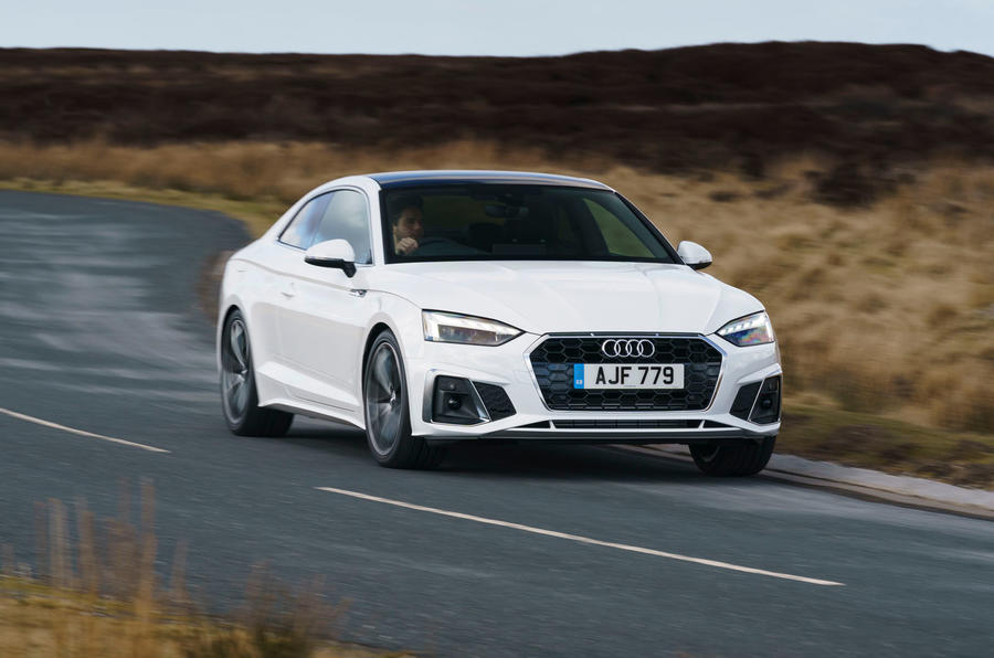 Audi A5 Coupe 2020 UK first drive review - cornering front