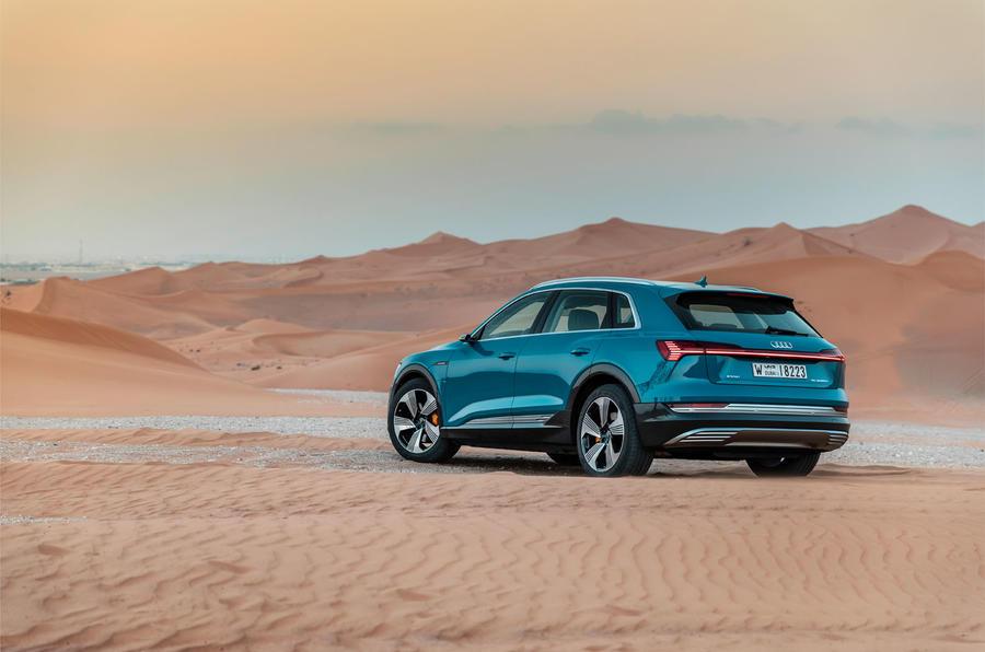 Audi E-tron quattro 2018 first drive review - static rear