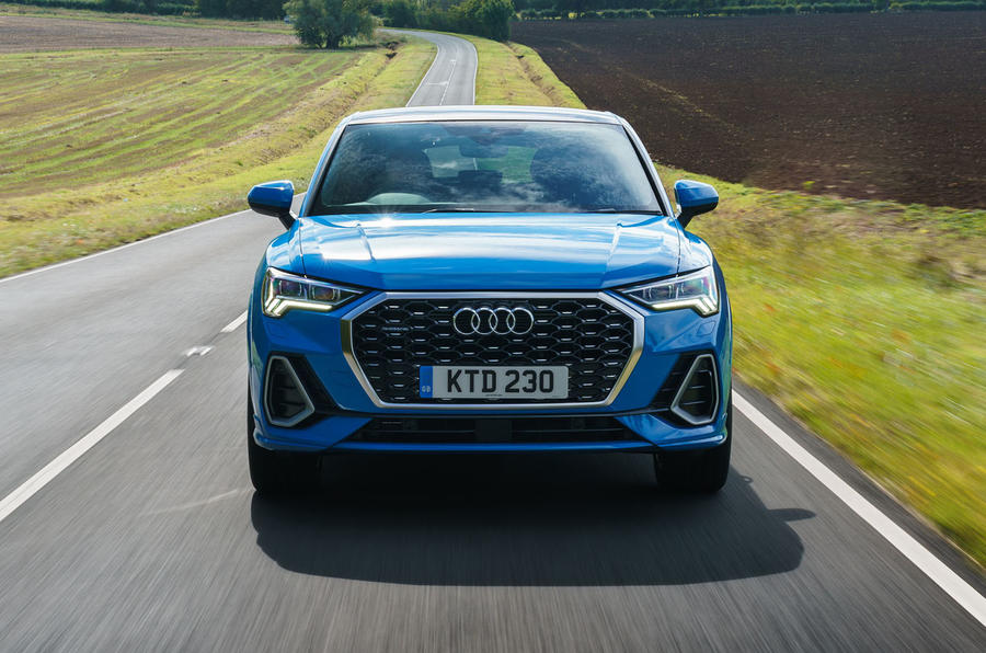 Audi Q3 Sportback 2019 UK first drive review - on the road nose