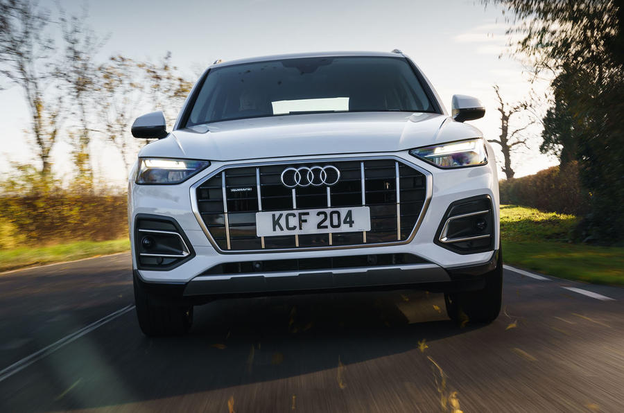 Audi Q5 40 TDI Sport 2020 UK first drive review - on the road nose