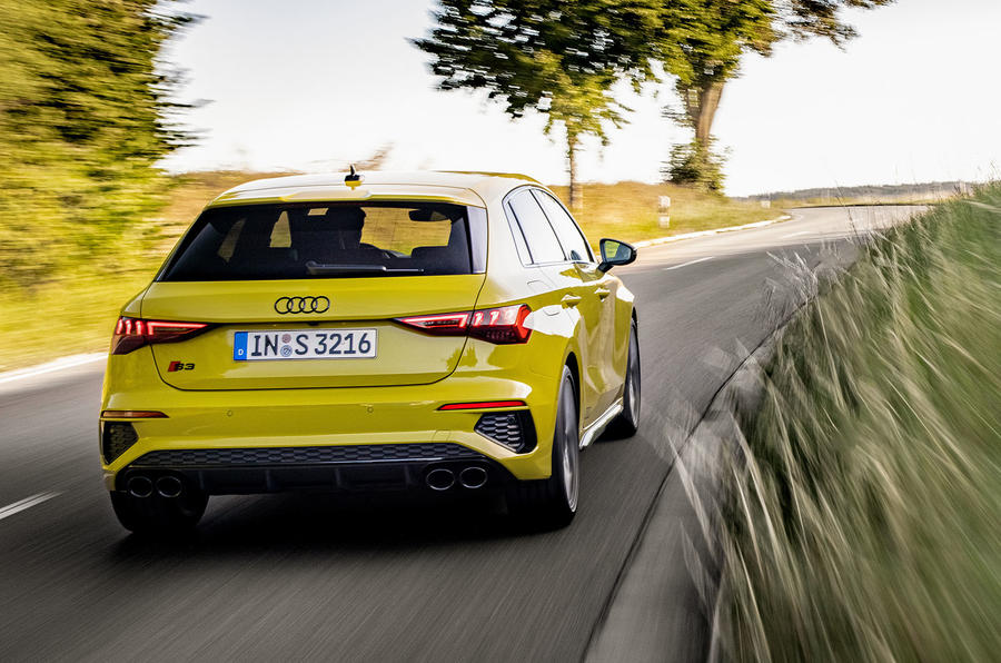 Audi S3 Sportback 2020 first drive review - cornering rear