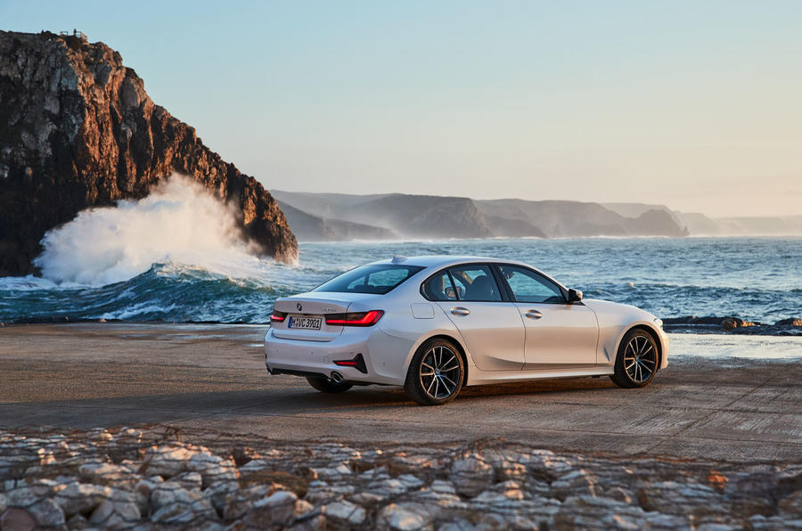 BMW 3 Series 320d Sport Line 2019 first drive review - hero rear
