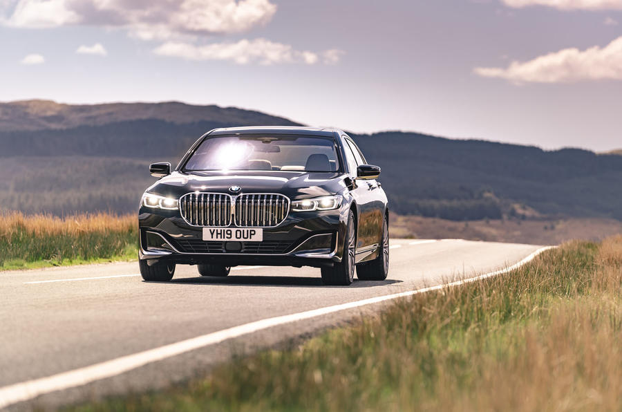 BMW 7 Series 730Ld 2019 UK first drive review - on the road front