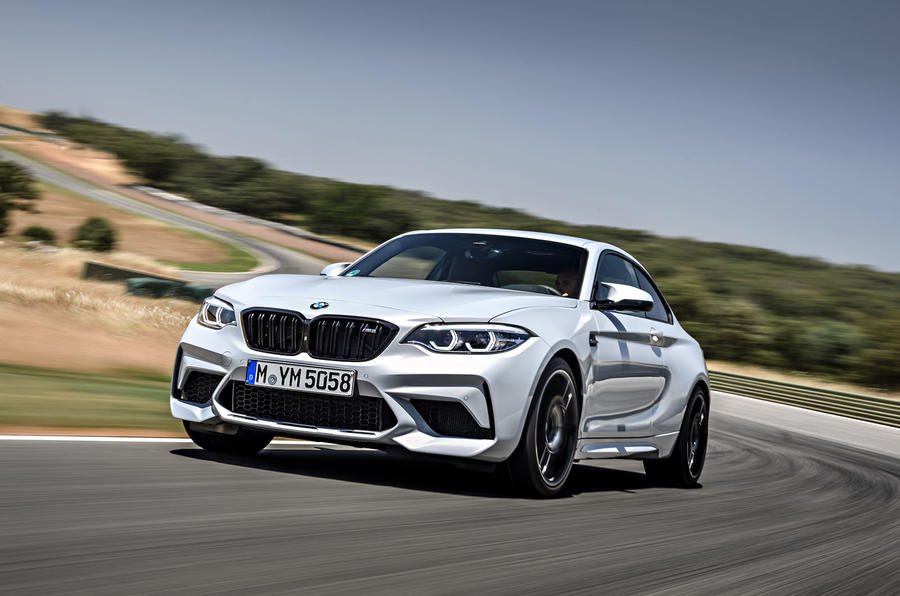 BMW M2 Competition 2018 first drive review track angle