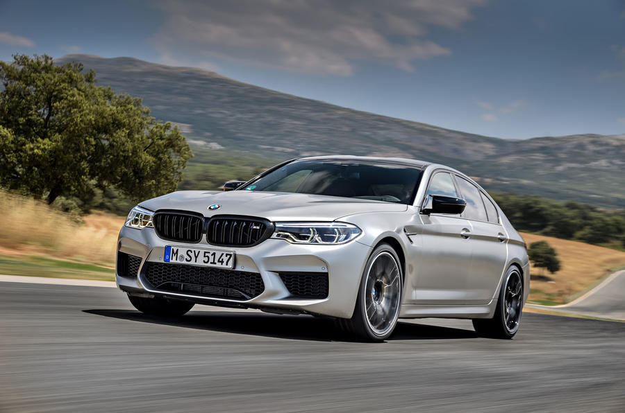 BMW M5 Competition 2018 first drive review track front