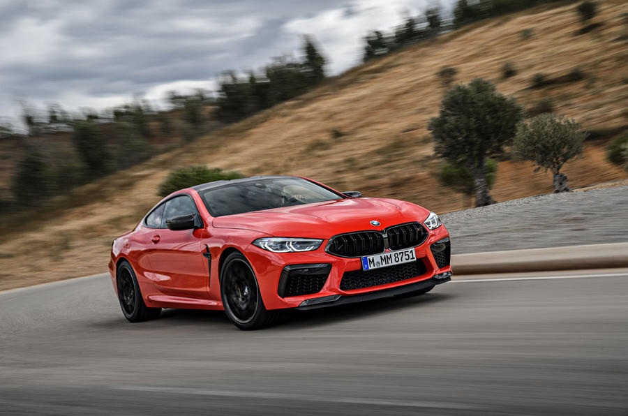 BMW M8 Competition Coupé 2019 first drive review - on the road front