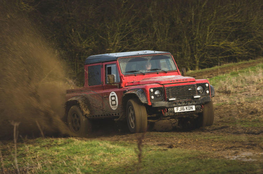 Bowler Bulldog V8 SC 2019 first drive review - Richard Lane offroad front