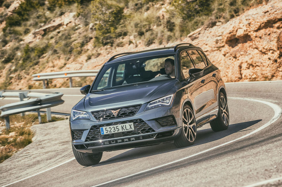 Cupra Ateca 2018 first drive review - cornering front