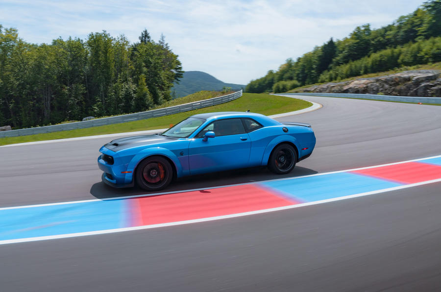 Dodge Challenger Hellcat Redeye Widebody 2018 first drive review - track side