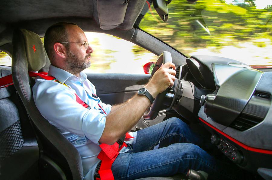 Ferrari 488 Pista 2018 review Matt Prior driving