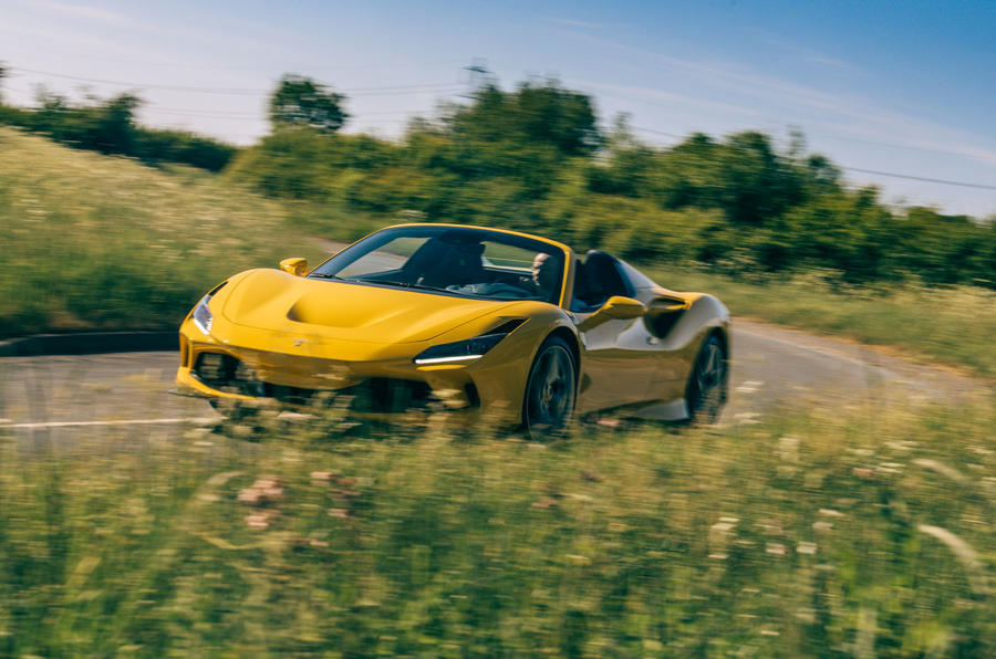 Ferrari F8 Tributo Spider 2020 UK first drive review - on the road front