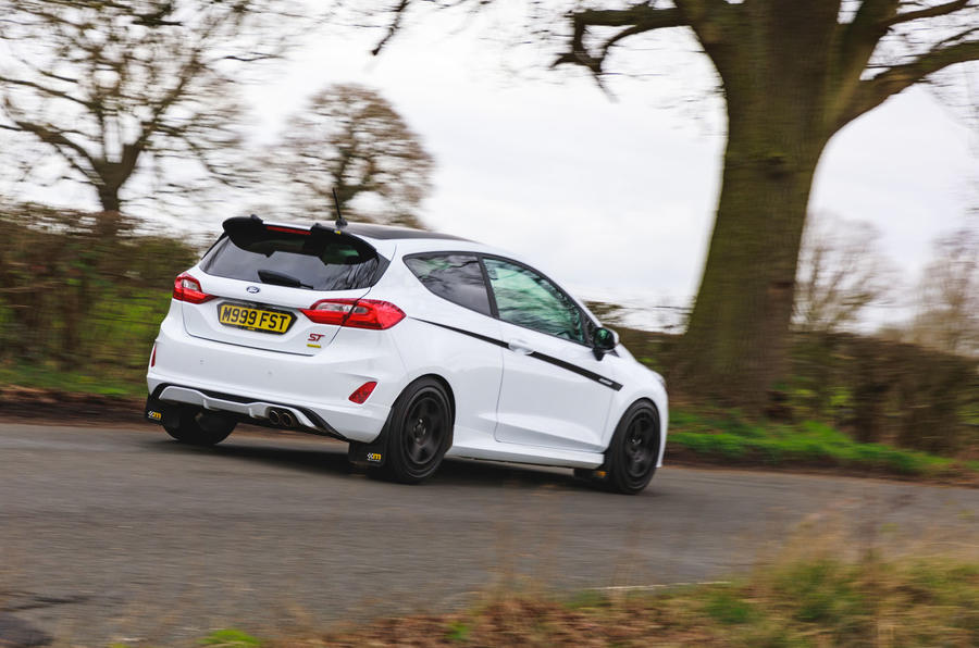 Ford Fiesta ST Mountune m235 2020 first drive review - on the road rear