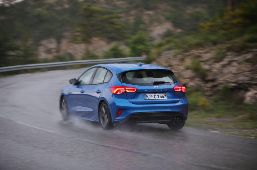 Ford Focus 2018 first drive review cornering rear