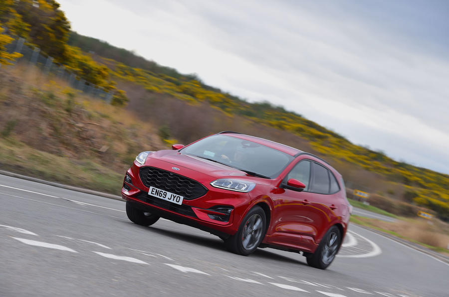 Ford Kuga ST-Line PHEV 2020 UK first drive review - on the road front