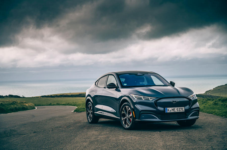 Ford Mustang Mach E 2021 UK first drive review -  static front
