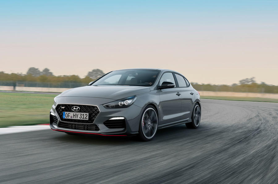 Hyundai i30 Fastback N 2019 first drive review - track drive front
