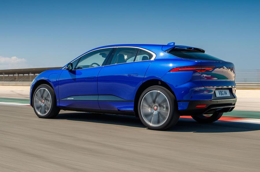 Jaguar I-Pace 2018 review track side