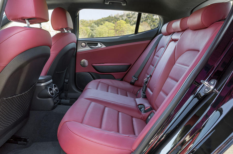 Kia Stinger 2.2 CRDi 2018 UK review rear seats