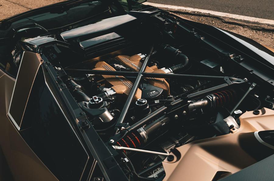 Lamborghini Aventador SVJ Roadster 2019 first drive review - engine