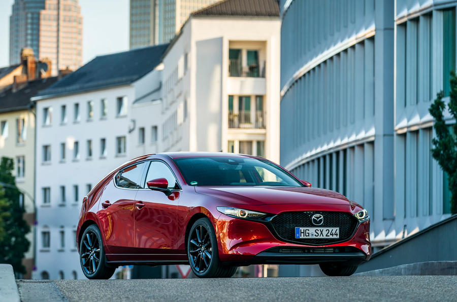 Mazda 3 Skyactiv-X 2019 first drive review - static front
