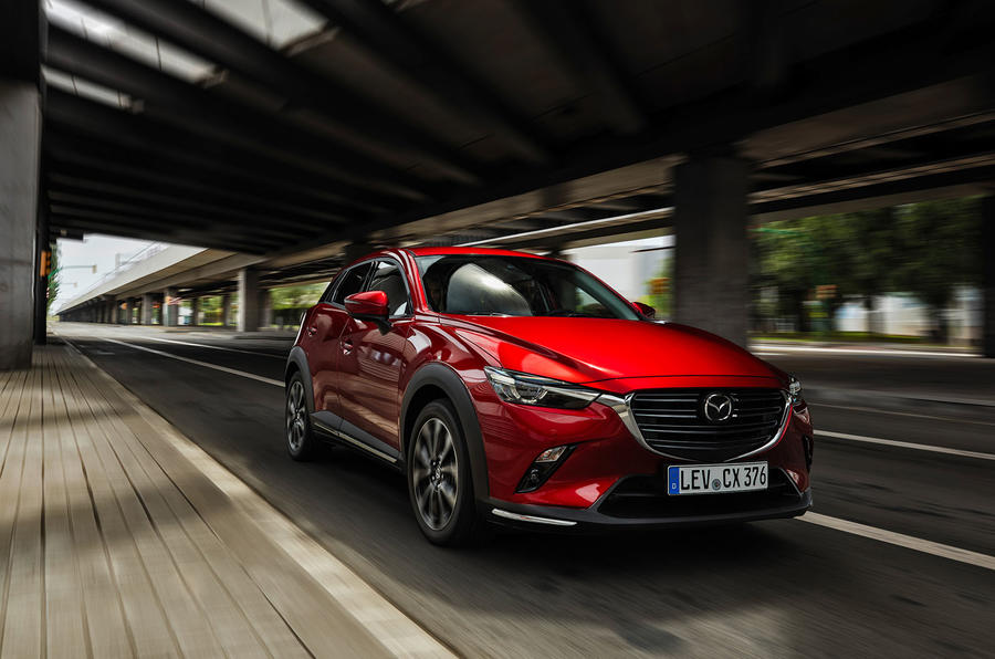 Mazda CX-3 2018 first drive review on the road front left