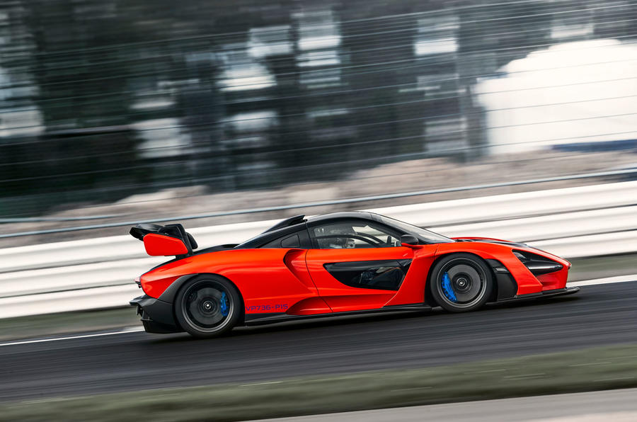 McLaren Senna 2018 UK first drive review track side