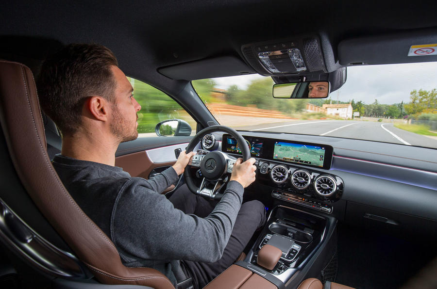 Mercedes-AMG A35 2018 first drive review - Dan prosser driving