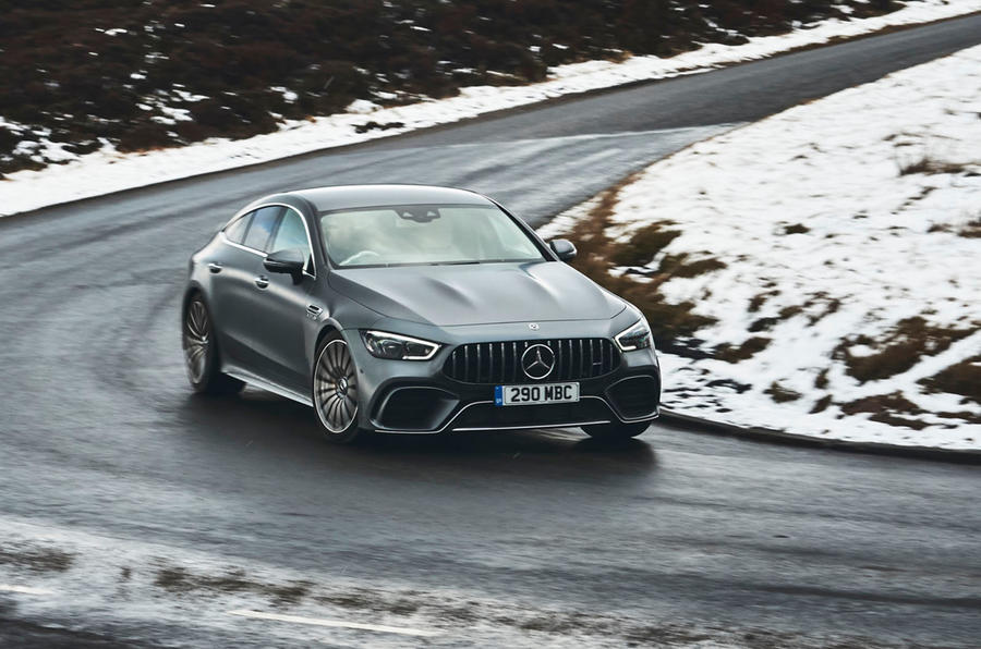 Mercedes-AMG GT 63 S 4-door Coupé 2019 UK first drive review - cornering front