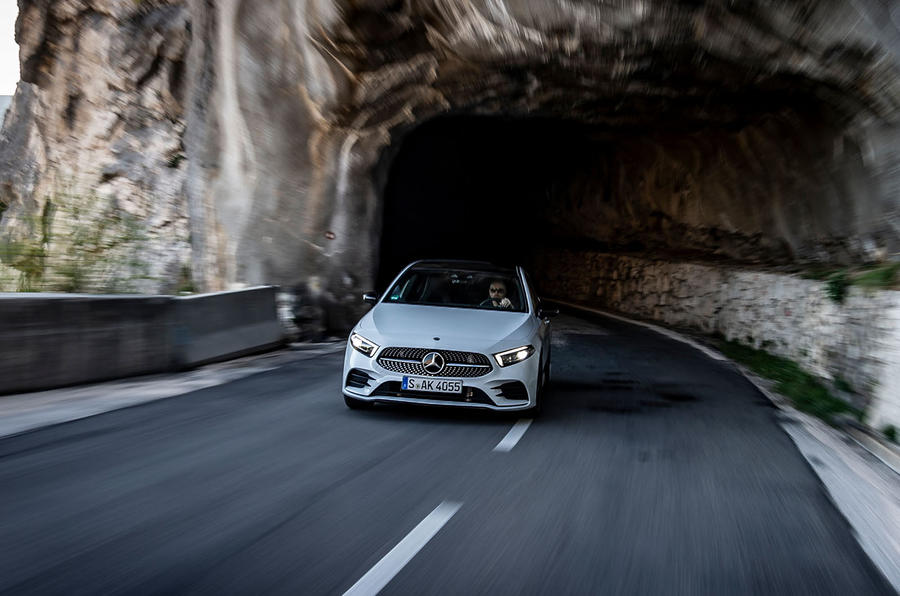 Mercedes-Benz A-Class A180D tunnel