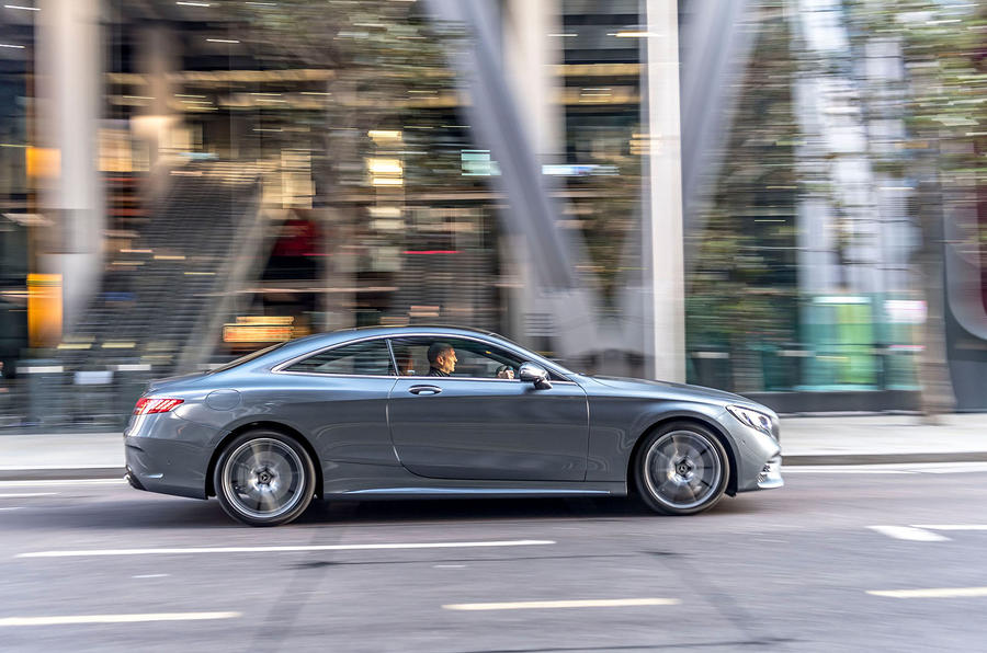 Mercedes-Benz S560 Coupe 2018 UK review static side