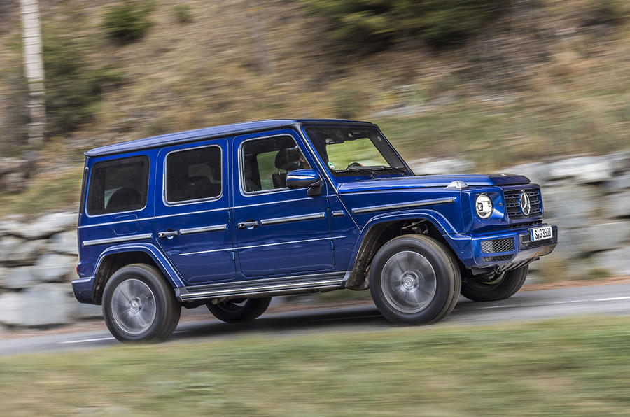 Mercedes-Benz G-Class G350d 2018 first drive review - on the road left side