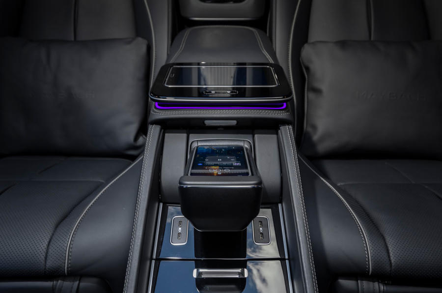 Mercedes-Maybach GLS 600 2020 first drive review - rear centre console