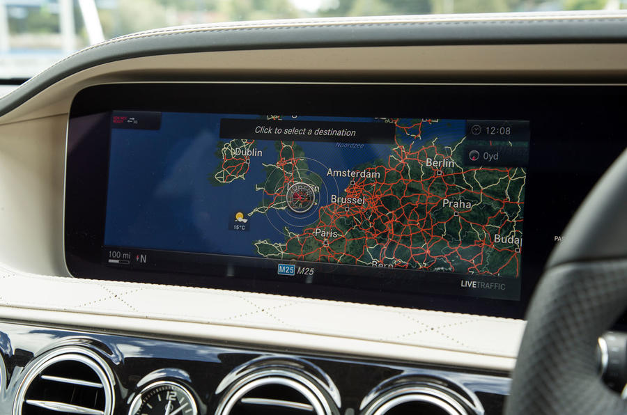 Mercedes-Benz S-Class S500L 2018 long-term review - satnav