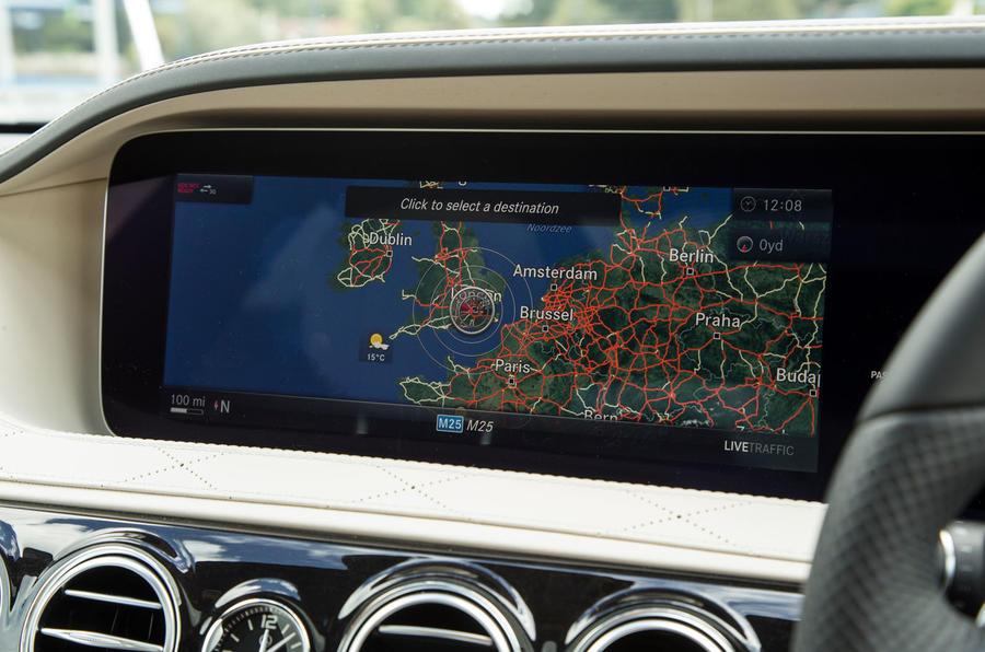 Mercedes-Benz S-Class S500L 2018 long-term review - satnav