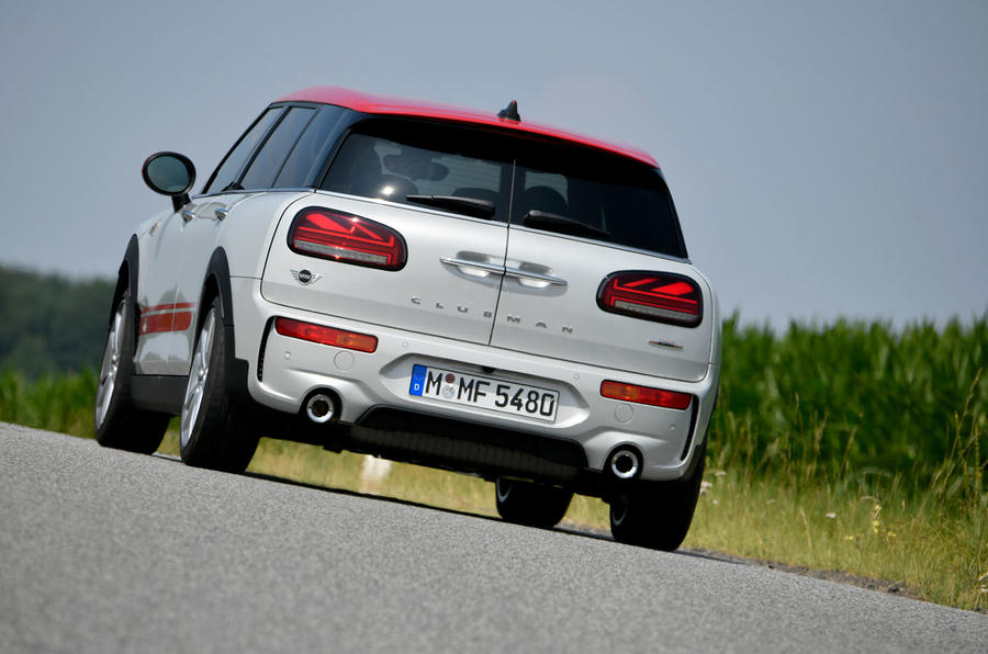 Mini Clubman John Cooper Works 2019 first drive review - cornering rear