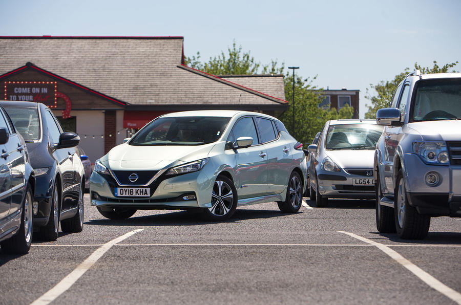 Nissan Leaf 2nd generation (2018) long-term review carpark