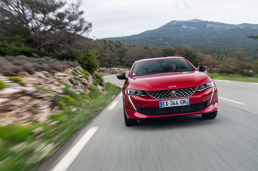 Peugeot 508 2018 review on the road front