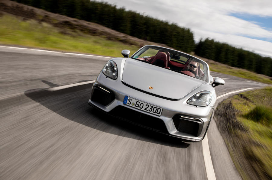Porsche 718 Boxster Spyder 2019 first drive review - on the road front