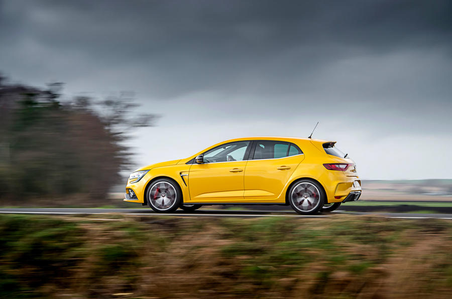 Renault Megane RS 300 Trophy 2019 UK first drive review - on the road side
