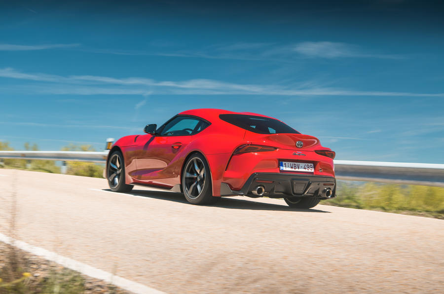 Toyota GR Supra 2019 first drive review - on the road rear