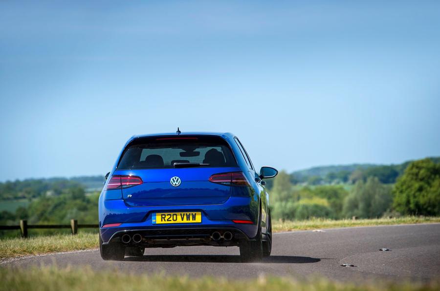 Volkswagen Golf R Performance Pack 2018 review cornering rear