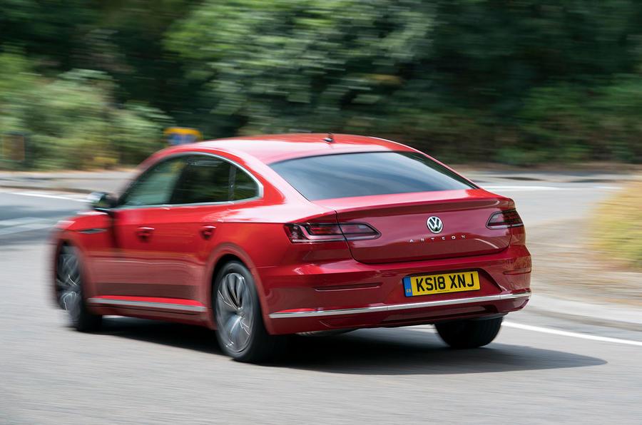 Volkswagen Arteon 2018 long-term review cornering rear
